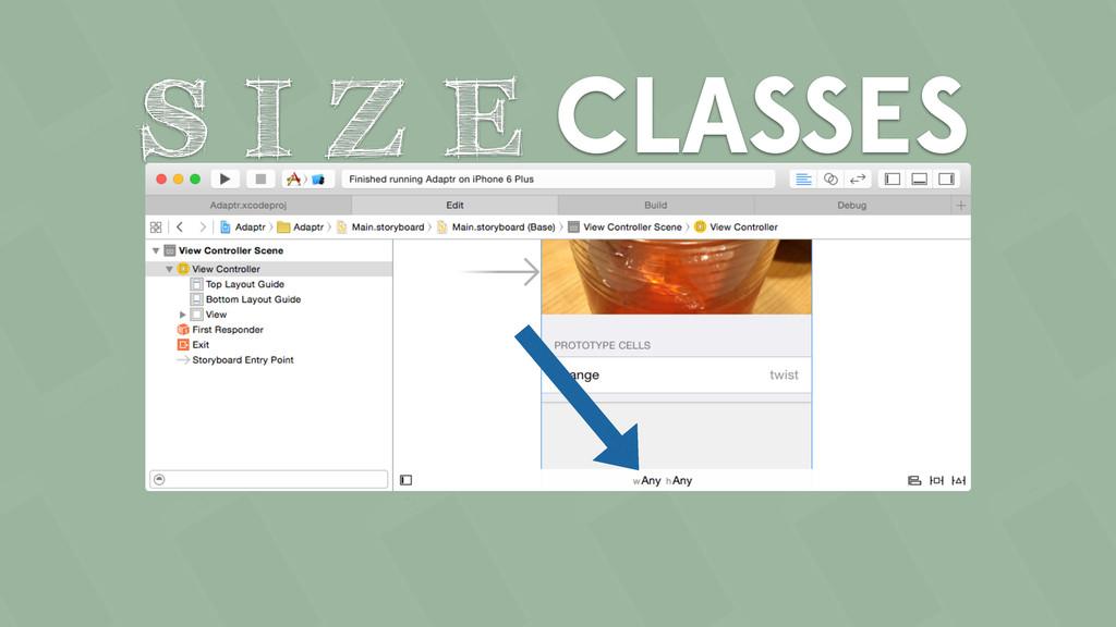 CLASSES S I Z E