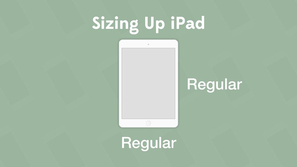 Sizing Up iPad Regular Regular