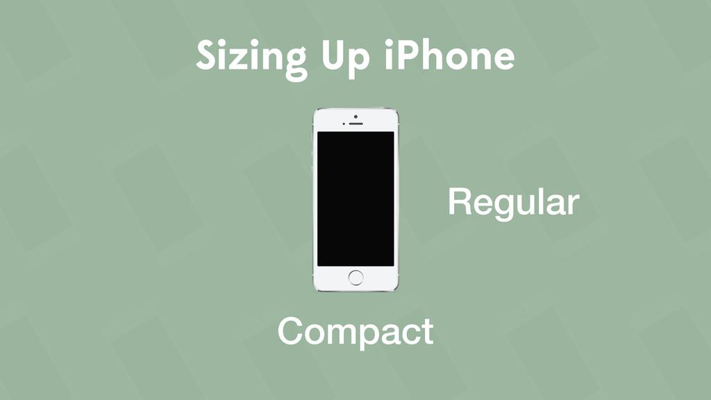 Sizing Up iPhone Regular Compact