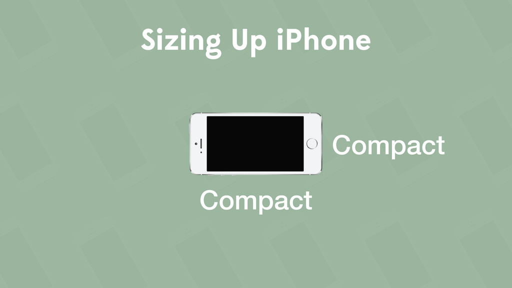 Sizing Up iPhone Compact Compact