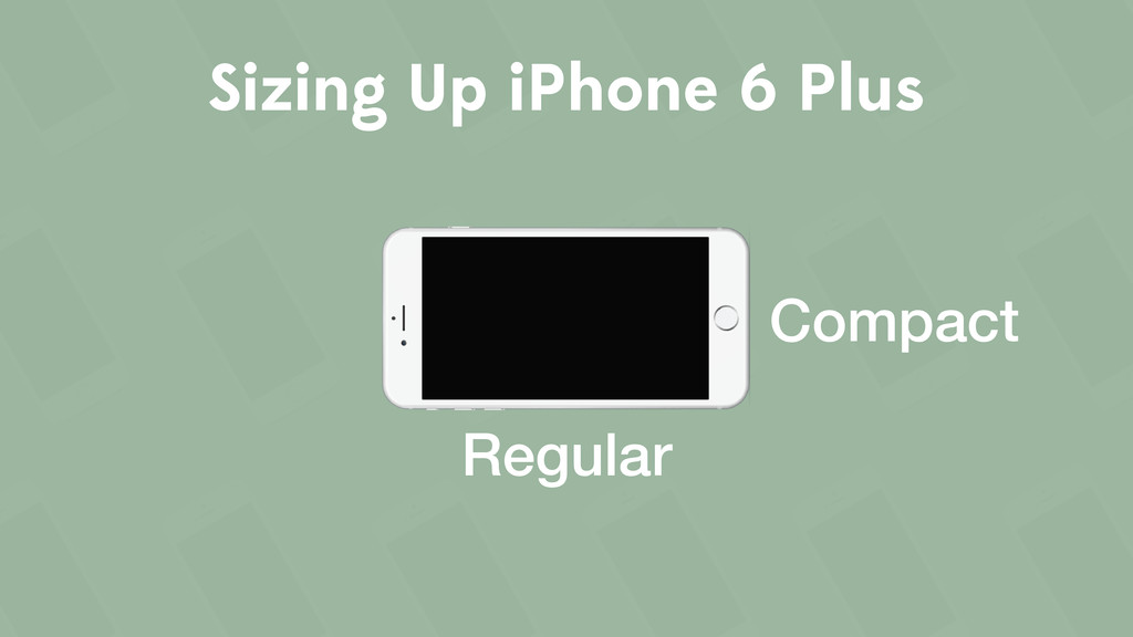 Sizing Up iPhone 6 Plus Regular Compact