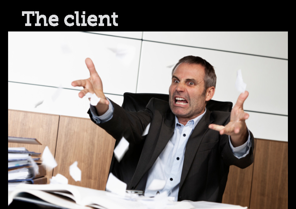 The client obvious stock photo of a client