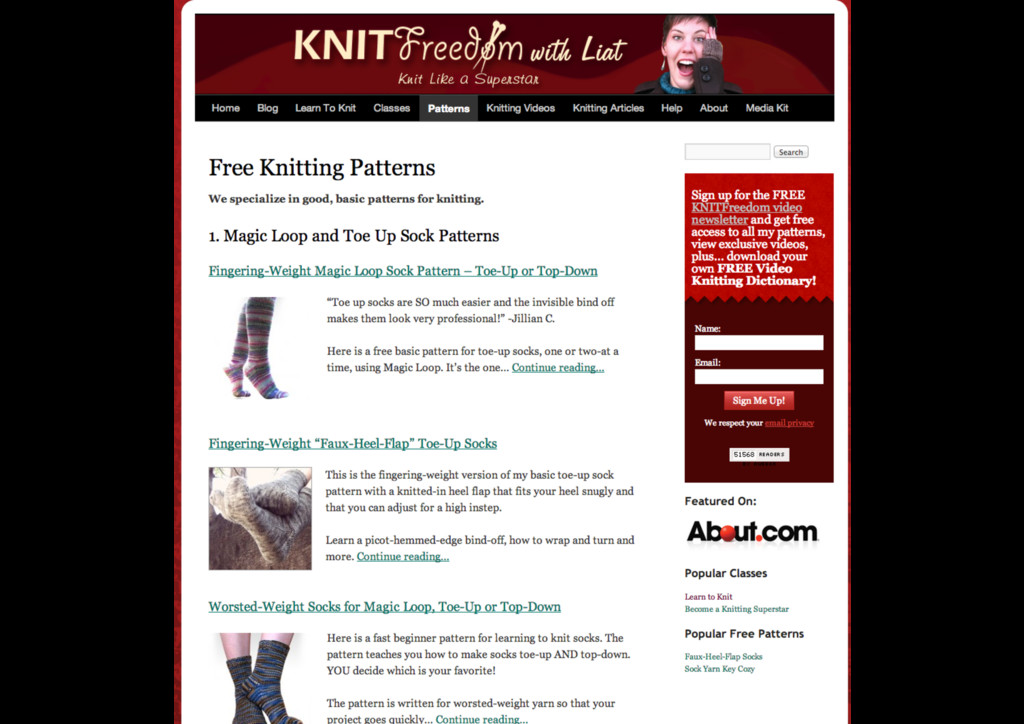 knit freedom & scottevest examples
