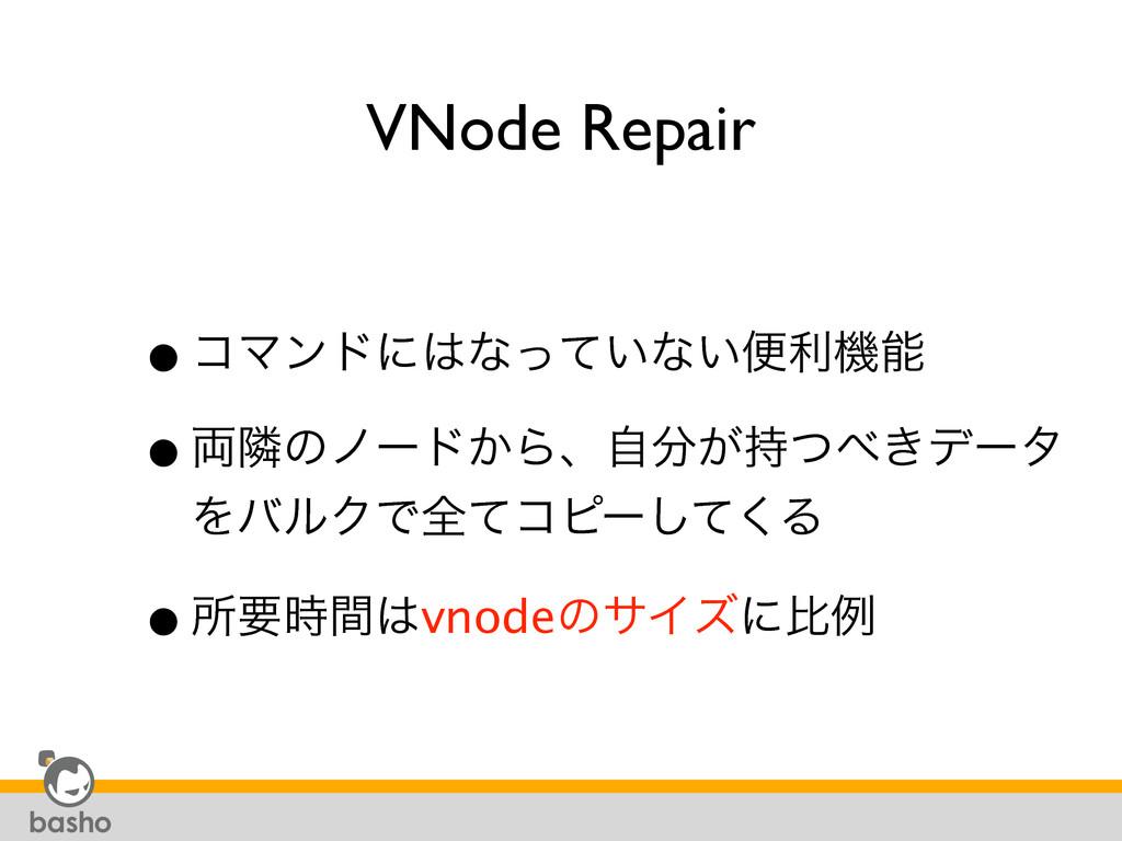 VNode Repair •ίϚϯυʹͳ͍ͬͯͳ͍ศརػ •྆ྡͷϊʔυ͔Βɺ͕ࣗͭ...
