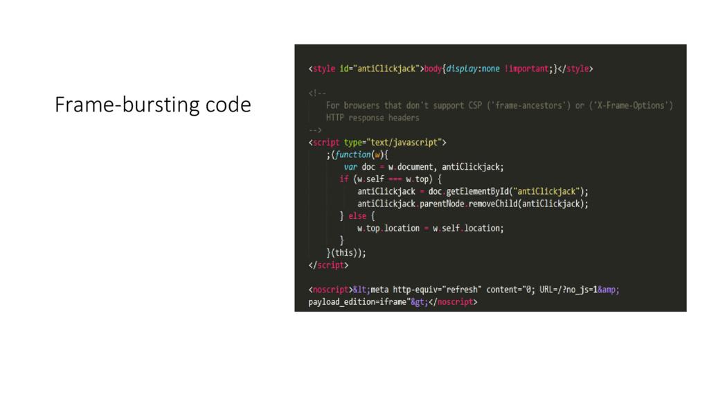 Frame-bursting code