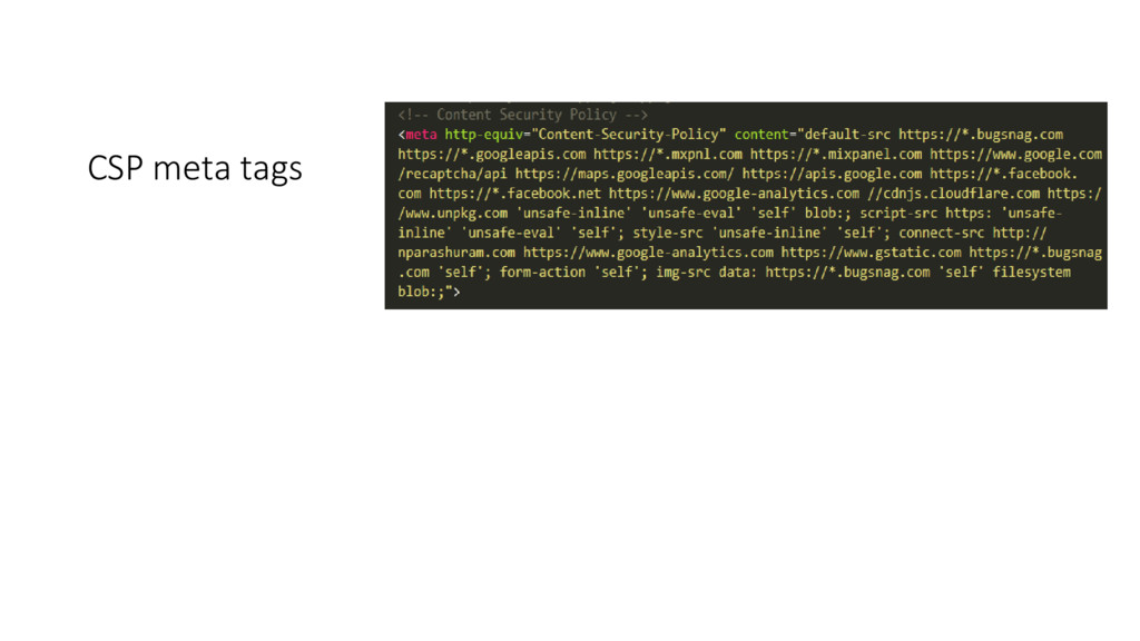 CSP meta tags