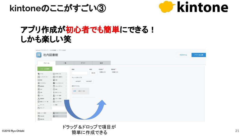 kintoneのここがすごい③ アプリ作成が初心者でも簡単にできる! しかも楽しい笑 ドラッグ...