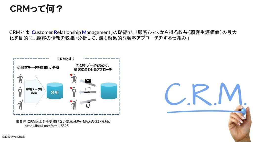 CRMって何? CRMとは「Customer Relationship Management」...