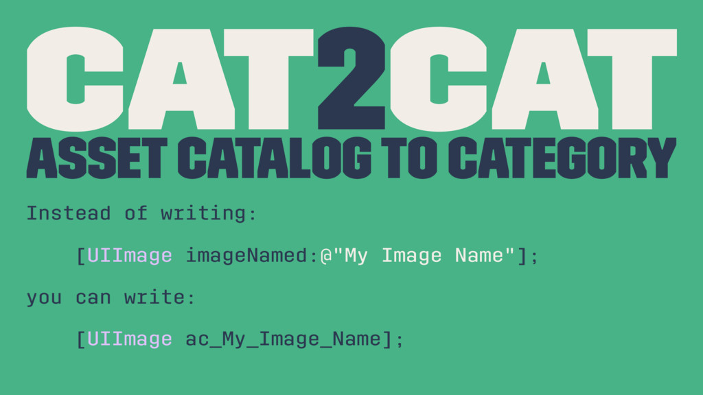 Cat2Cat Asset Catalog To Category Instead of wr...