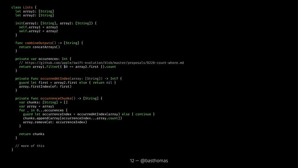 class Lists { let array1: [String] let array2: ...