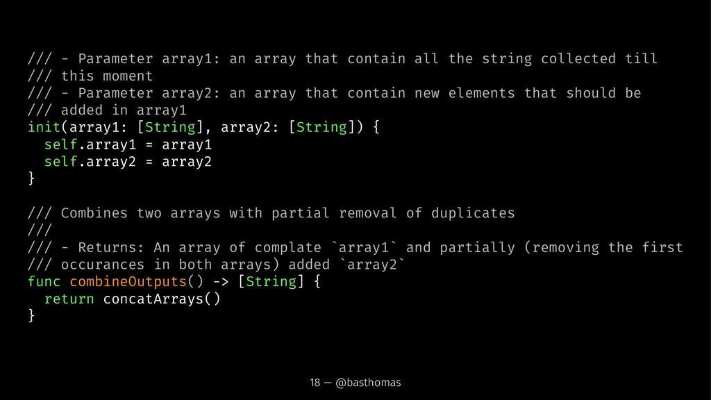 /// - Parameter array1: an array that contain a...