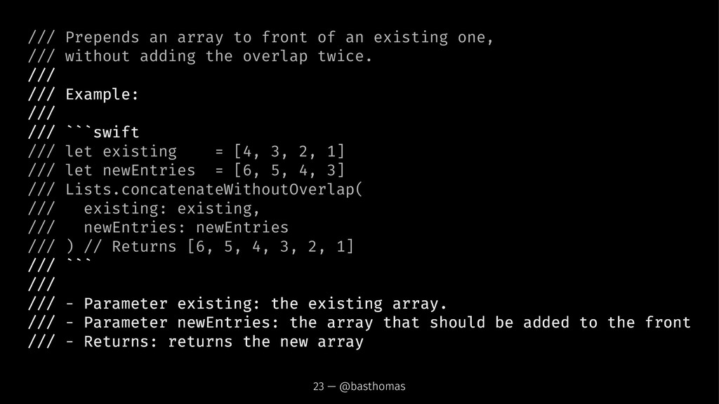 /// Prepends an array to front of an existing o...