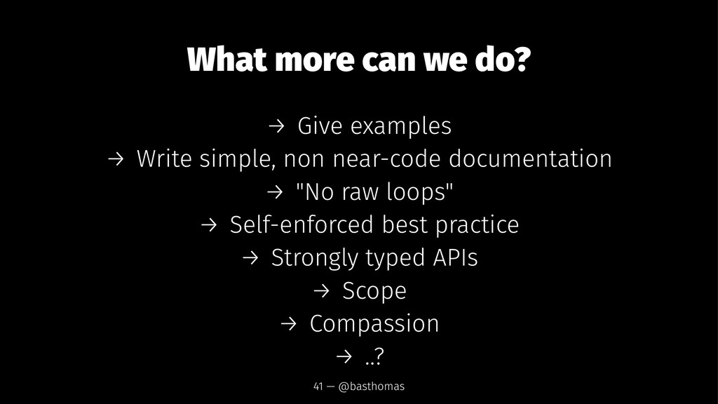 What more can we do? → Give examples → Write si...