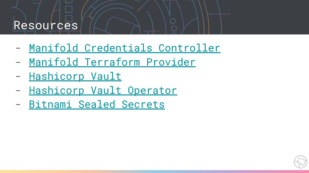 Resources - Manifold Credentials Controller - M...