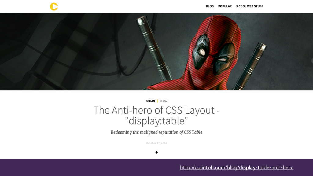 http://colintoh.com/blog/display-table-anti-hero