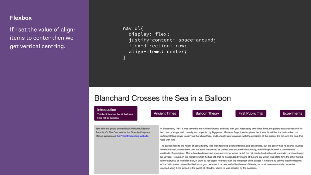 Flexbox If I set the value of align- items to c...
