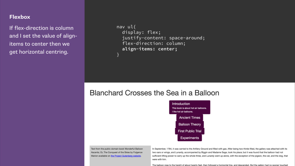 Flexbox If flex-direction is column and I set t...