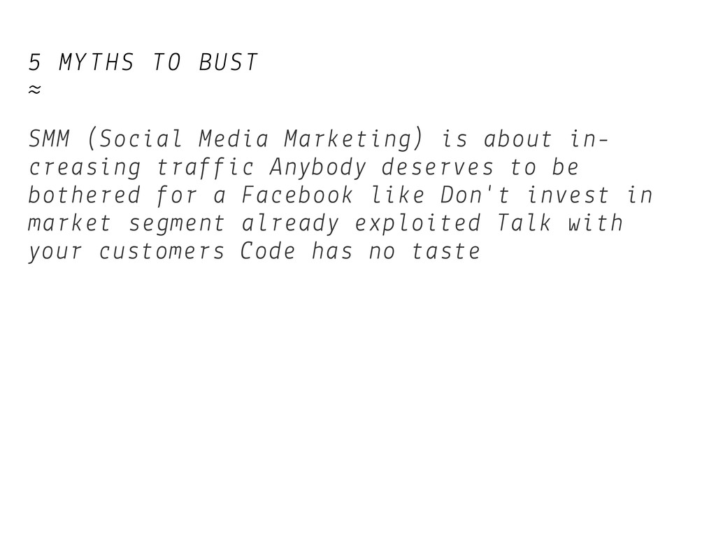 5 MYTHS TO BUST ≈ SMM (Social Media Marketing) ...