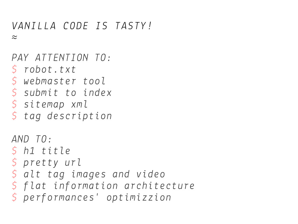 VANILLA CODE IS TASTY! ≈ PAY ATTENTION TO: $ ro...