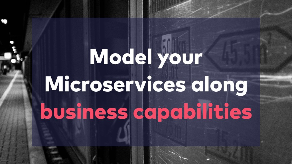 Model your Microservices along business capabil...
