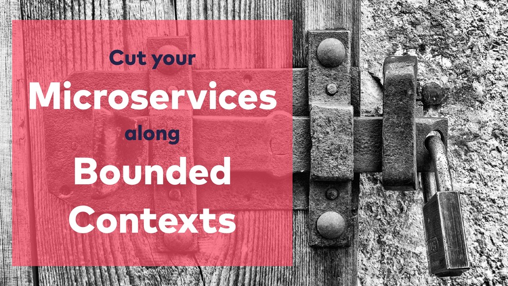 Cut your Microservices  along Bounded Contexts