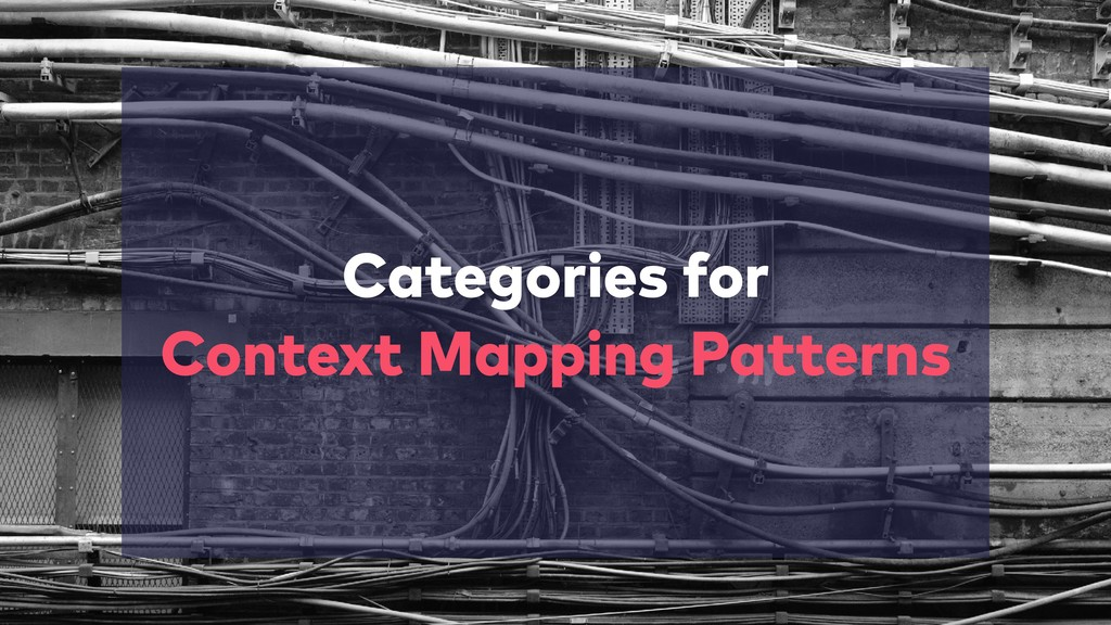 Categories for  Context Mapping Patterns