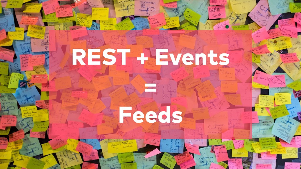 REST + Events = Feeds