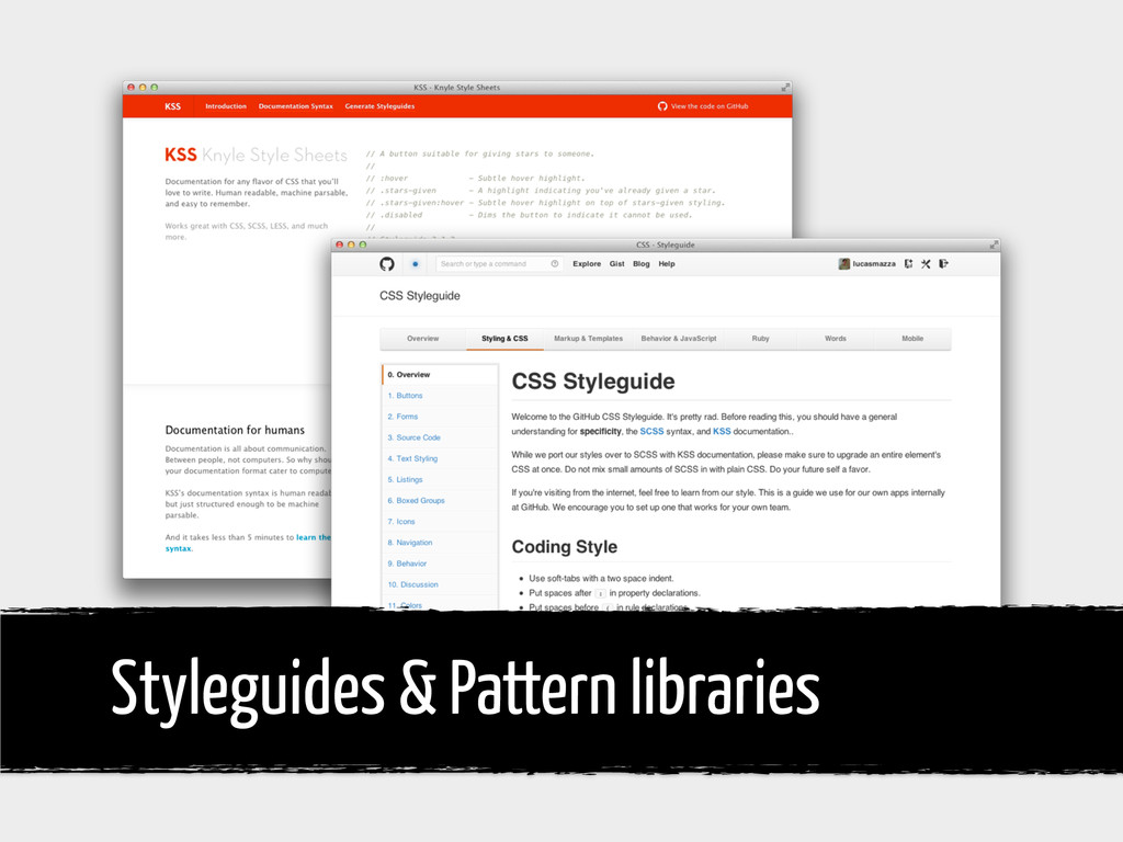 Styleguides & Pattern libraries
