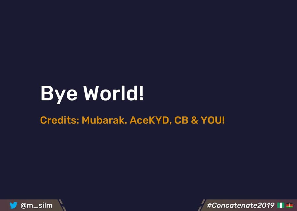 #Concatenate2019 #Concatenate2019 @m_silm Bye W...