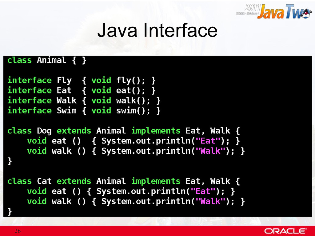 26 Java Interface