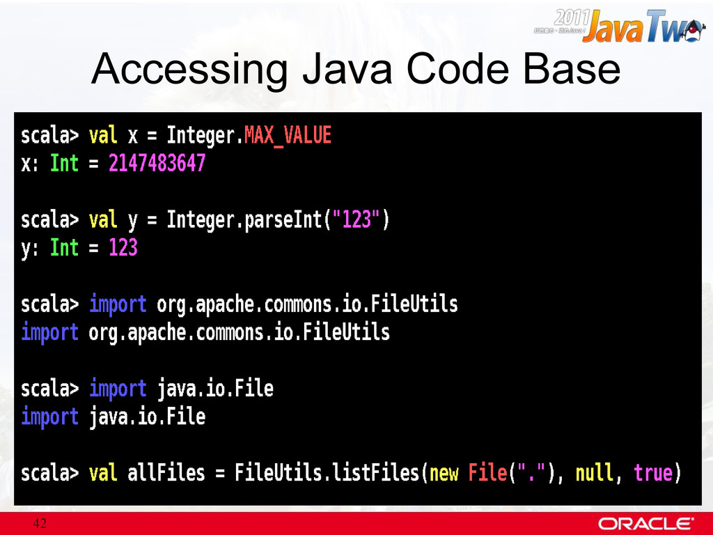 42 Accessing Java Code Base