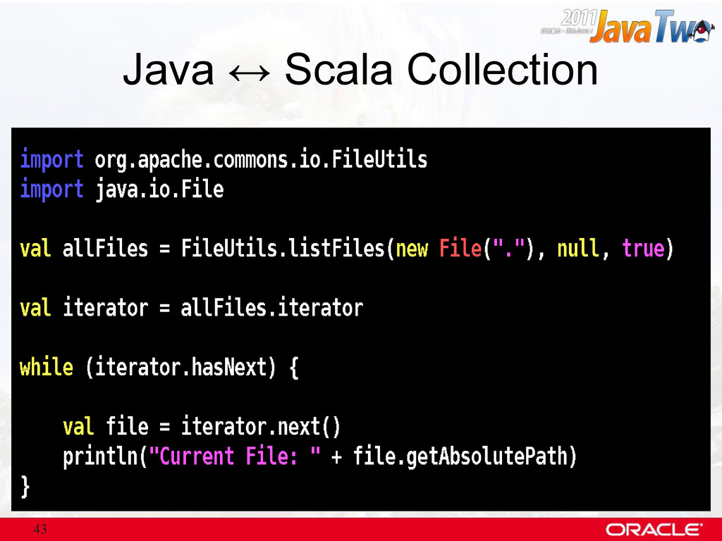 43 Java ↔ Scala Collection
