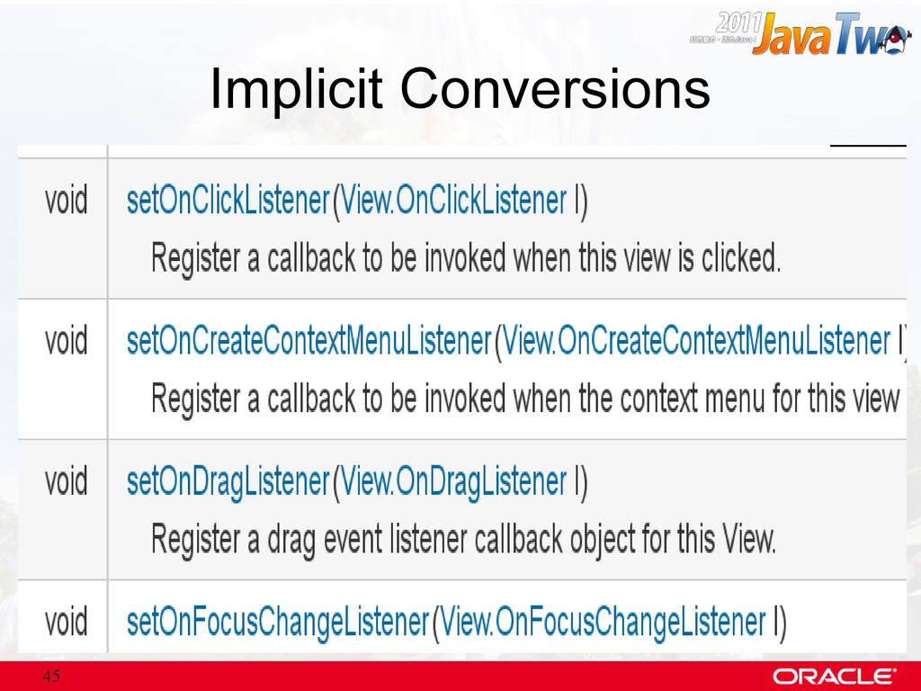 45 Implicit Conversions