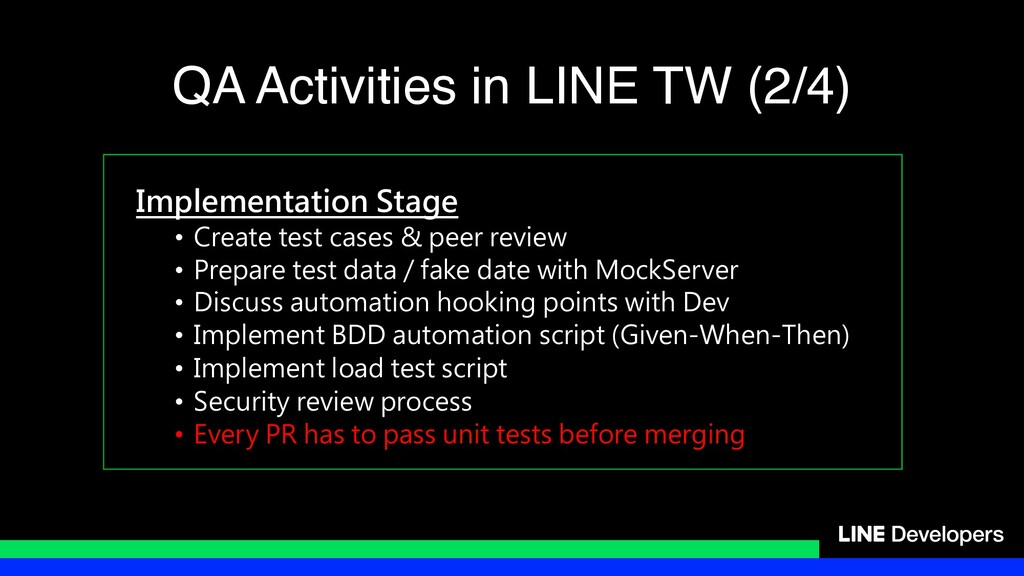 Implementation Stage • Create test cases & peer...