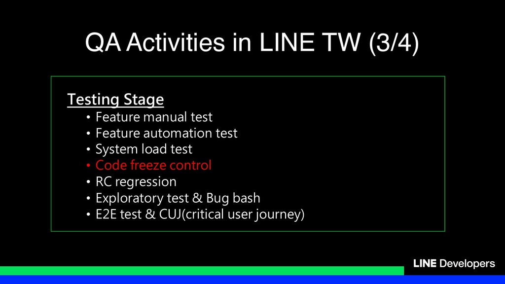Testing Stage • Feature manual test • Feature a...