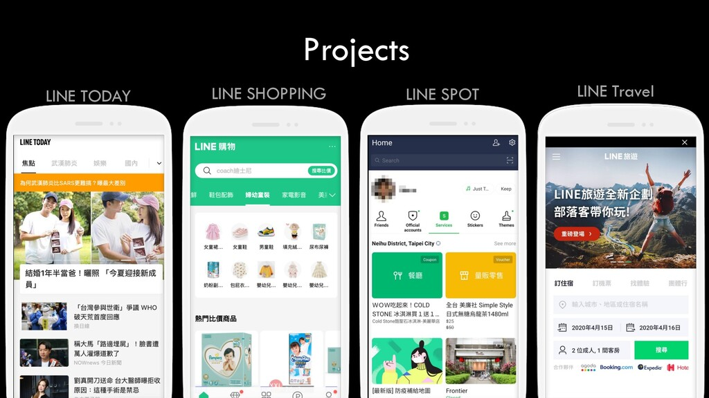 Projects LINE TODAY LINE Travel LINE SHOPPING L...