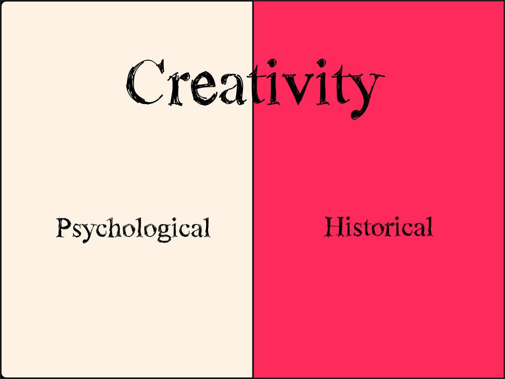 Historical Creativity Psychological