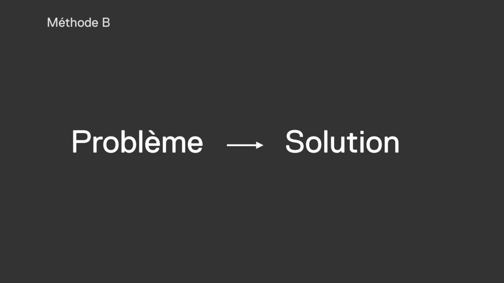 Problème Solution Méthode B