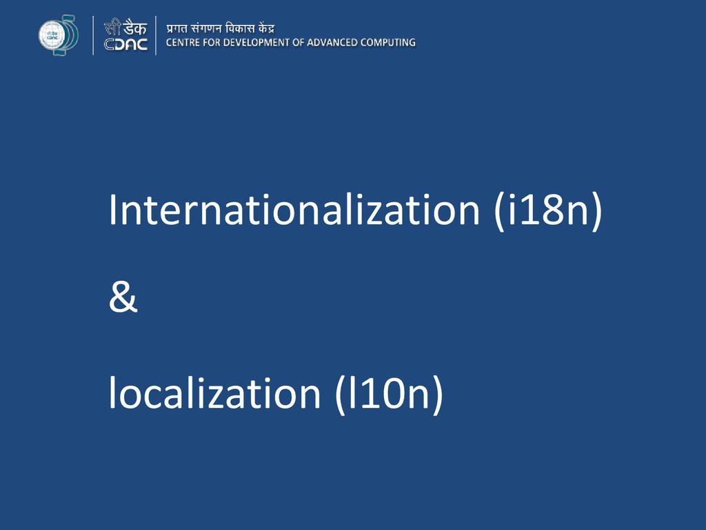 Internationalization (i18n) & localization (l10...