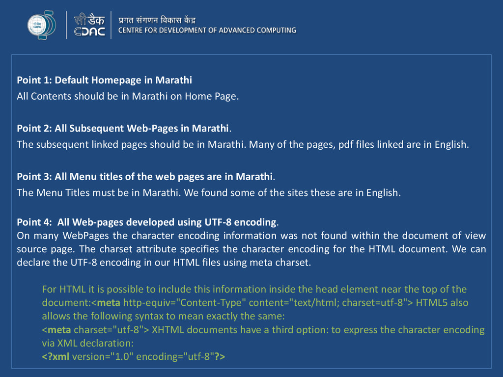 Point 1: Default Homepage in Marathi All Conten...