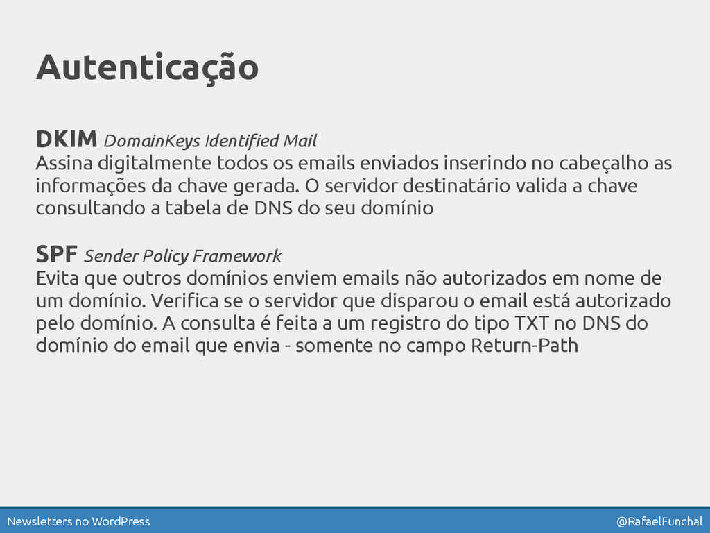 Newsletters no WordPress @RafaelFunchal Autenti...