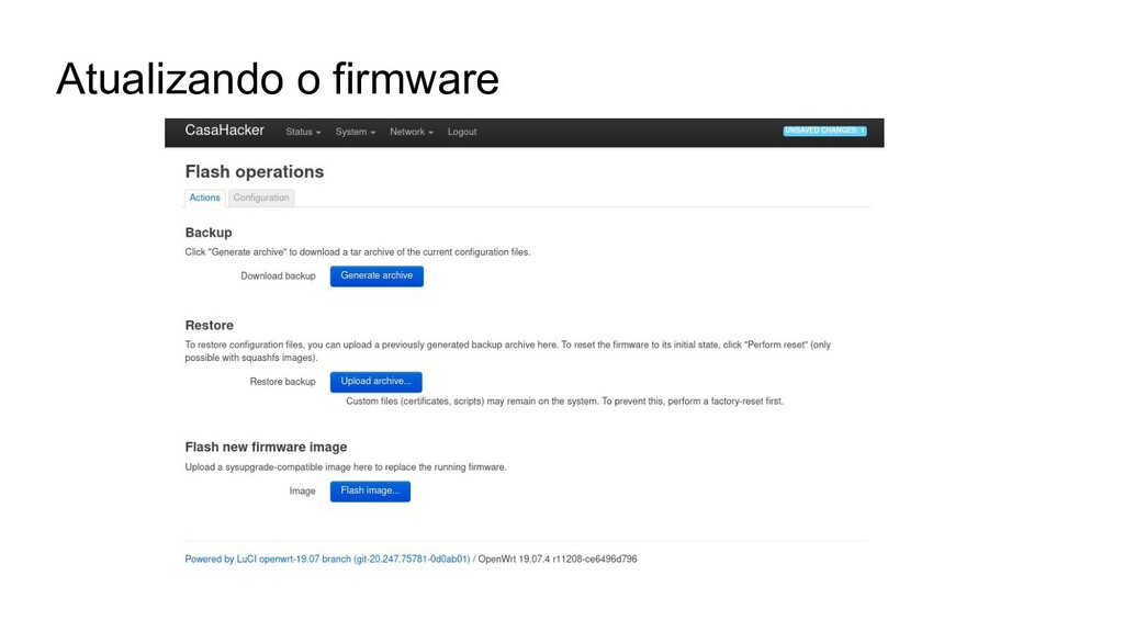 Atualizando o firmware
