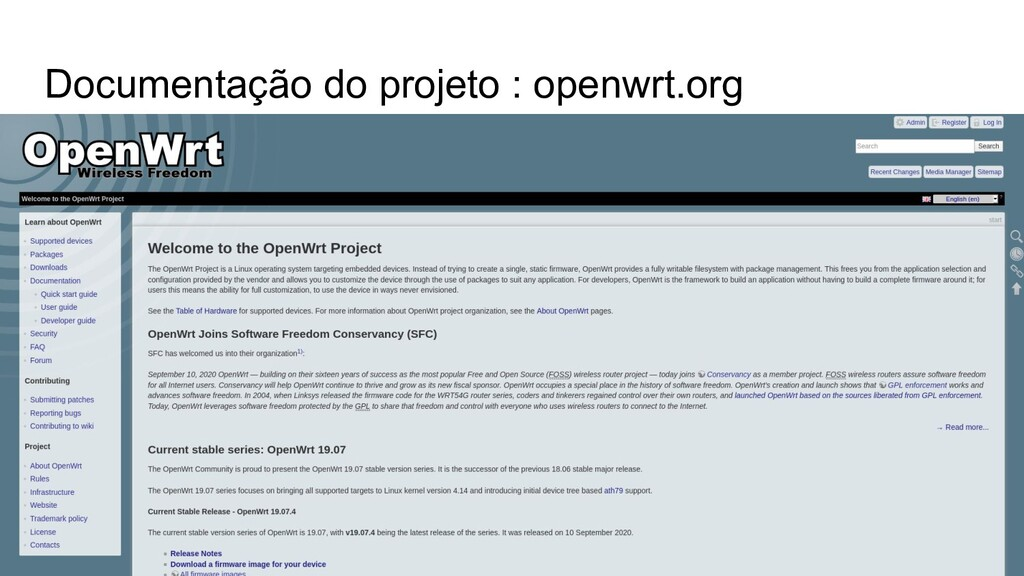 Documentação do projeto : openwrt.org
