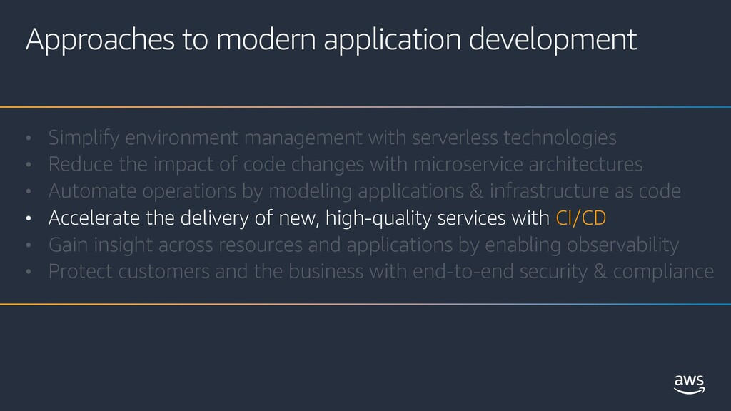 Approaches to modern application development • ...