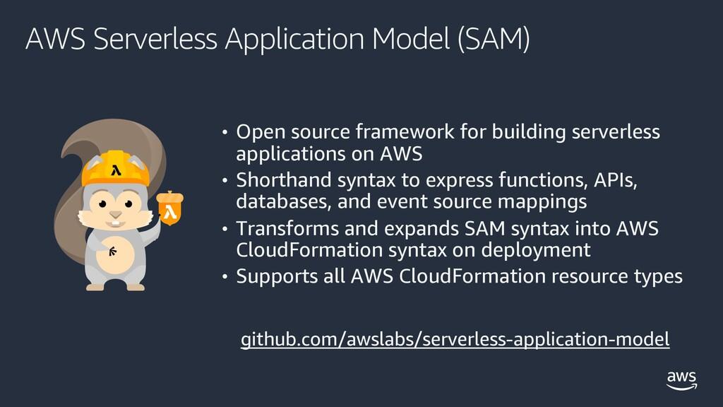 AWS Serverless Application Model (SAM) • Open s...