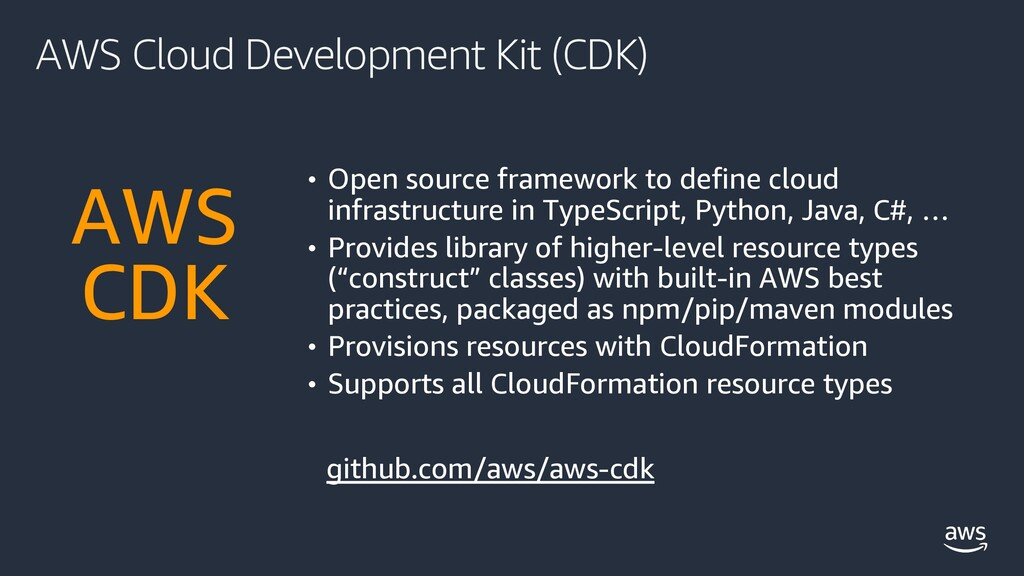 AWS Cloud Development Kit (CDK) • Open source f...