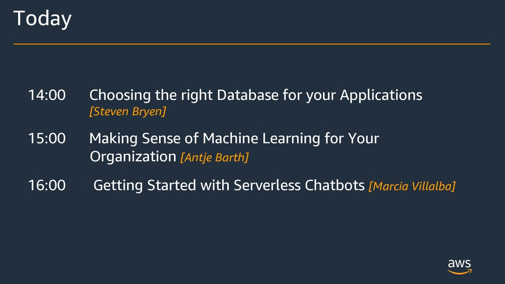 14:00 Choosing the right Database for your Appl...