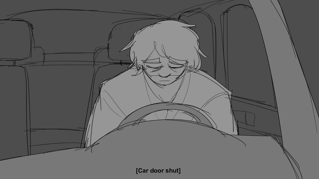 [Car door shut]