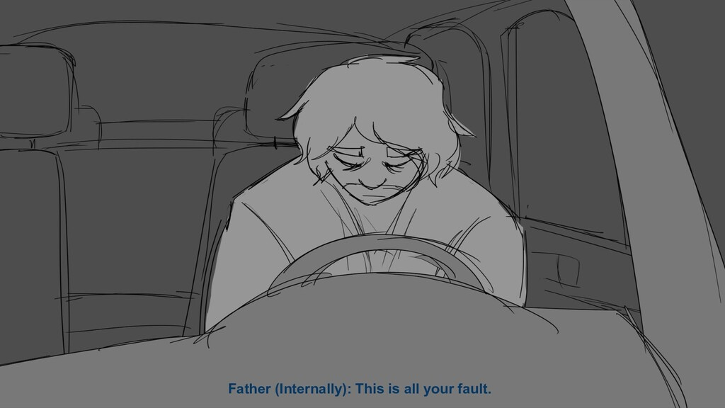 Father (Internally): This is all your fault.