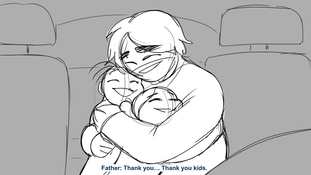 Father: Thank you… Thank you kids.